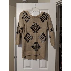 | aztec sweater |